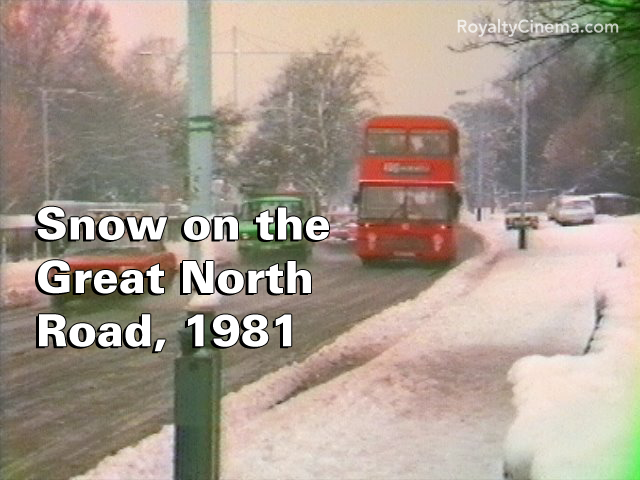 Snow on the Great North Road, December 1981