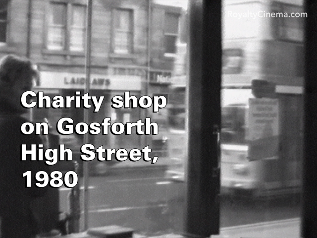 Charity shop on Gosforth High Street in autumn 1980