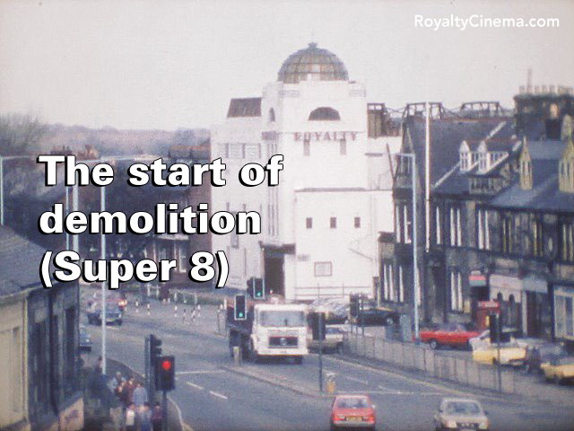 The start of demolition in spring 1984