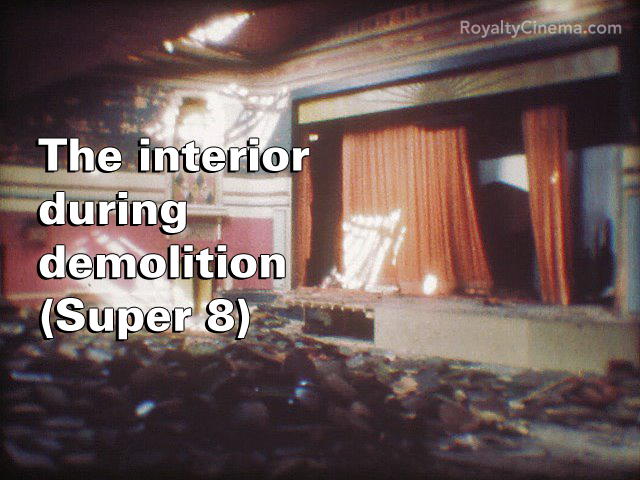 Interior at the start of demolition in spring 1984